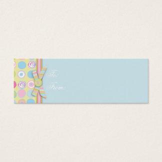Mini Carte De Visite Étiquette maigre 2 de cadeau de lapin doux
