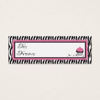 Mini Carte De Visite Étiquette maigre chic de cadeau de boutique