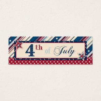 Mini Carte De Visite Étiquette maigre de cadeau de rayure de liberté