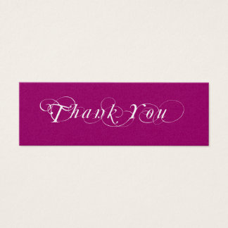 Mini Carte De Visite Étiquette rose et blanche de cadeau de faveur de