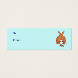 Mini Carte De Visite Étiquettes de cadeau de bout de lapin