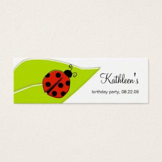 Mini Carte De Visite Étiquettes de Merci de coccinelle