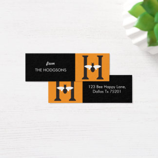Mini Carte De Visite Étiquettes faites sur commande maigres heureuses