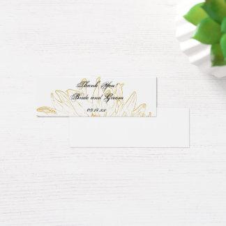 Mini Carte De Visite Étiquettes graphiques de faveur de mariage de