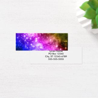Mini Carte De Visite Étoiles d'arc-en-ciel