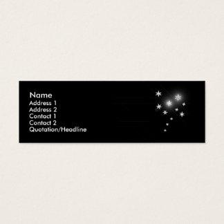 Mini Carte De Visite Étoiles d'argent - maigres