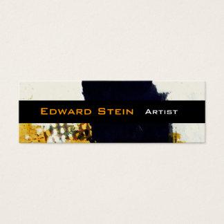 Mini Carte De Visite Expressionisme abstrait Painterly de traçage noir