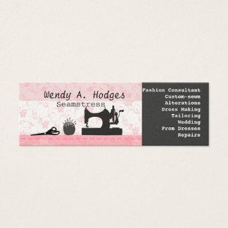 Mini Carte De Visite Fait main maigre de couture de rose de mannequin