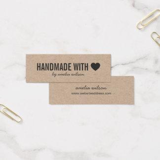 Mini Carte De Visite Fait main rustique de coeur simple avec amour