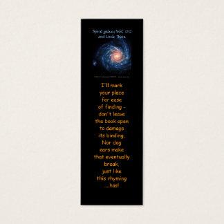Mini Carte De Visite Galaxie en spirale NGC 1232 et peu de signets de