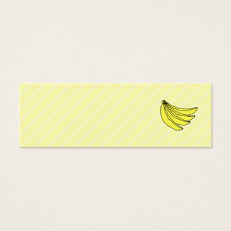 Mini Carte De Visite Groupe de bananes jaunes