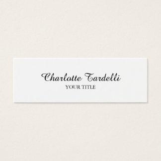 Mini Carte De Visite Handwrite classique blanc professionnel mince