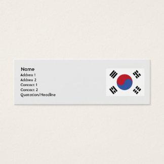 Mini Carte De Visite La Corée du Sud - maigre