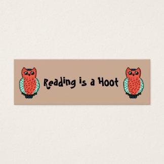 Mini Carte De Visite La lecture est des signets d'une huée