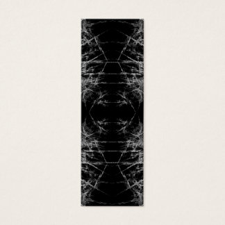 Mini Carte De Visite La manière dedans. Fractale Art. Monochrome