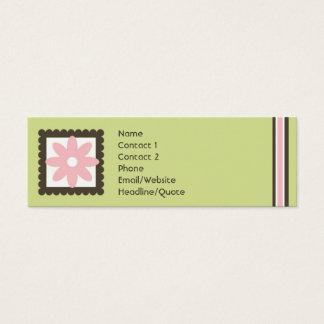 Mini Carte De Visite La mini marguerite maigre barre appeler/carte de