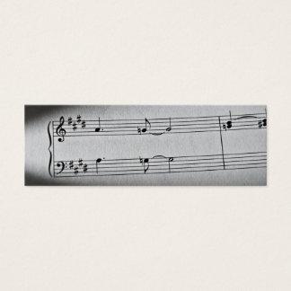 Mini Carte De Visite La musique note le signet