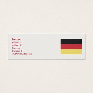 Mini Carte De Visite L'Allemagne - maigre