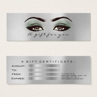 Mini Carte De Visite L'argent gris de menthe de certificat-prime