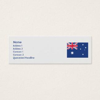 Mini Carte De Visite L'Australie - maigre