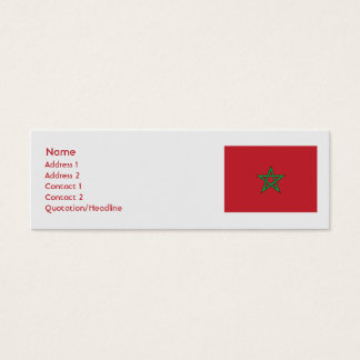Mini Carte De Visite Le Maroc - maigre