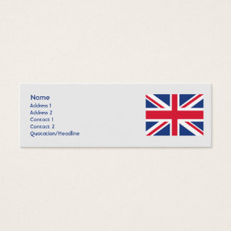 Mini Carte De Visite Le Royaume-Uni - maigre