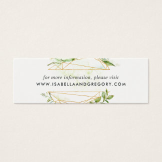 Mini Carte De Visite Le site Web de mariage de mini-serre carde   mini
