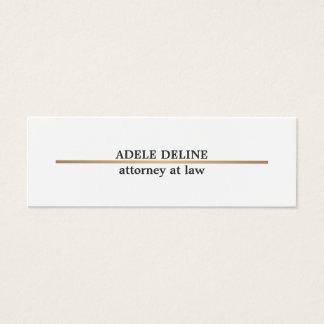 Mini Carte De Visite Ligne de cuivre élégante minimaliste mandataire