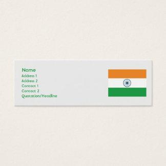 Mini Carte De Visite L'Inde - maigre