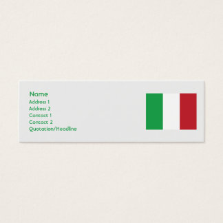 Mini Carte De Visite L'Italie - maigre