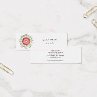 Mini Carte De Visite Mandala. floral ethnique