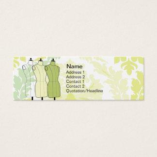 Mini Carte De Visite Manequins - maigre