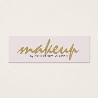 Mini Carte De Visite Maquilleur élégant simple professionnel