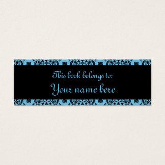 Mini Carte De Visite Mini marque-pages élégantes de damassé bleue et