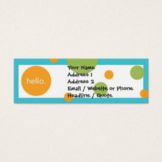 Mini Carte De Visite Mini profil moderne maigre/télécarte de points