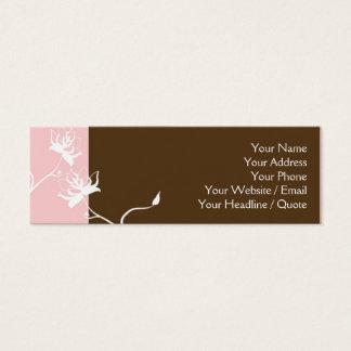 Mini Carte De Visite Mini télécarte moderne maigre de chocolat