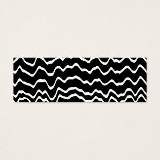 Mini Carte De Visite Modèle de vague noir et blanc