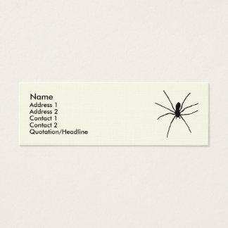 Mini Carte De Visite Modèle noir d'araignée