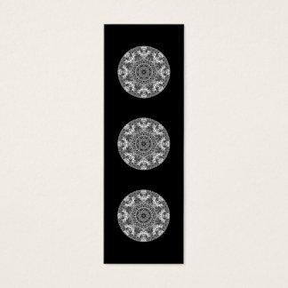 Mini Carte De Visite Modèle rond décoratif noir et blanc