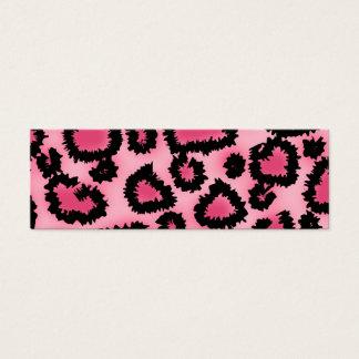 Mini Carte De Visite Modèle rose et noir d'empreinte de léopard