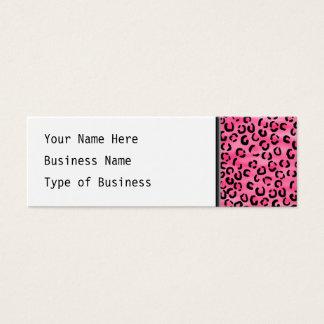Mini Carte De Visite Modèle rose lumineux d'empreinte de léopard