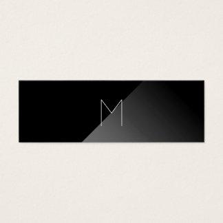 Mini Carte De Visite Moderne noir un résumé