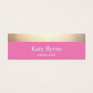 Mini Carte De Visite Moderne rayé d'or rose mignon
