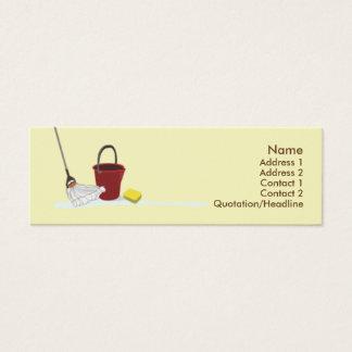 Mini Carte De Visite Nettoyage - maigre