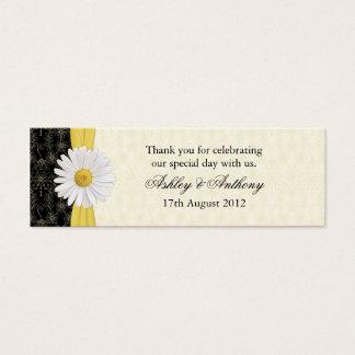 Mini Carte De Visite Noir, ivoire, étiquettes de faveur de mariage de