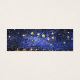 Mini Carte De Visite Nuit étoilée de Vincent van Gogh au-dessus du