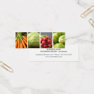 Mini Carte De Visite Nutritionniste propre moderne de photo de légumes
