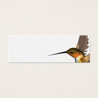 Mini Carte De Visite or d'oiseau de ronflement
