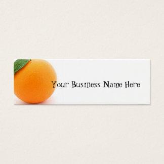 Mini Carte De Visite Orange
