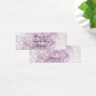 Mini Carte De Visite Pâlissez doucement - les étiquettes roses de